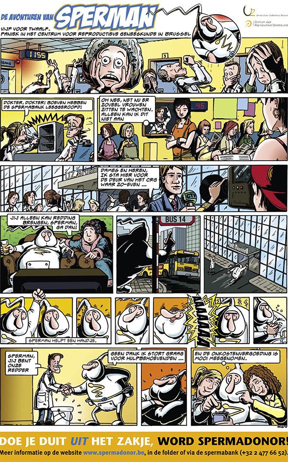 Stripje met in de hoofdrol de superheld Sperman